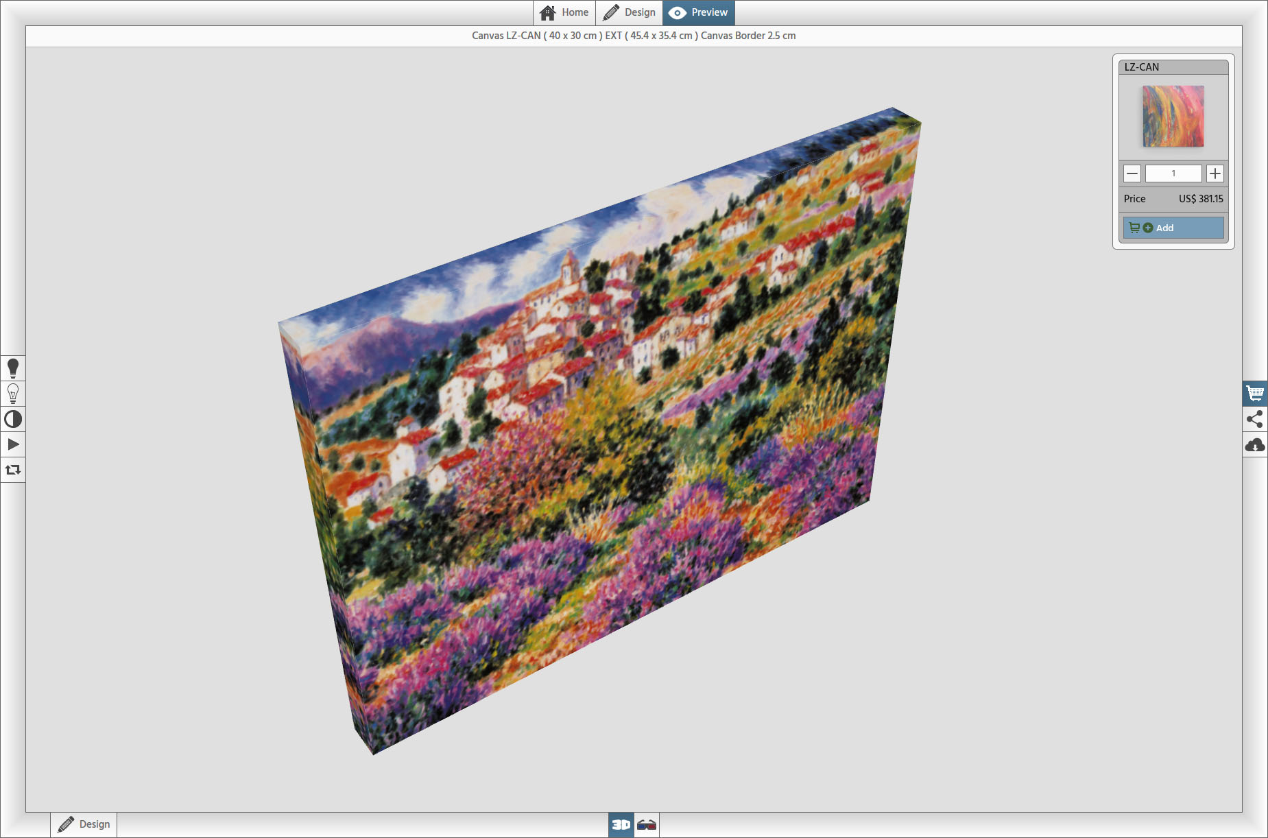 Print On Demand - Canvas 3D